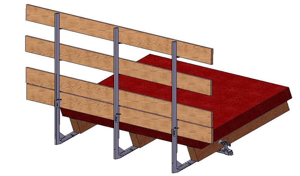 Brüstungen für Holzdächer