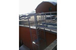 Passerella per tetti - Messa in opera