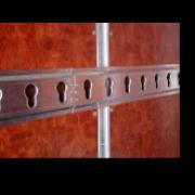 Particolare della giunzione dei profili per lunghezze superiori a 3 metri (profilo a omega).